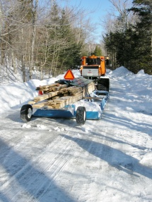 Winter lumber load