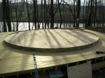 Deck prepped for yurt.