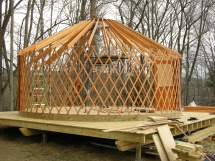 Yurt framing on deck