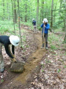 New trail construction workshop.