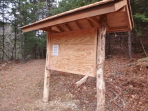 Kiosk with black locust posts